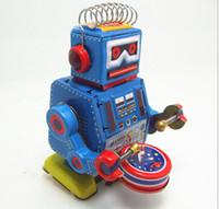 Wholesale Vintage Style quot Tin Robot Drummer Mini
