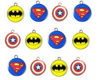 Cheap New 100pcs Superman batman Super Hero mixed Charms Earrings Pendants DIY Jewelry Making