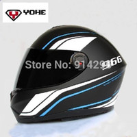 Wholesale 2014 NEW Original High Quality YOHE Eternal full face helmet motorcycle winter helmets with DOT ECE YH966