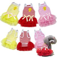 beauty chicks - Lovely Small Chick Dress For Dog Clothing Beauty Pet Clothes Puppy Apparel Red Pink Yellow