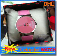 alloy wheels cheap - Cheap Watches For Women Fashion Colorful PU Leather Electronic Alloy Dial Wheel Wrist Gift Concise Design Watch