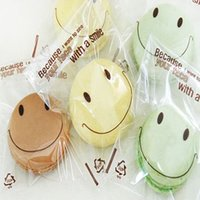 bakery bags wholesale - 400Pcs cm quot Lovely Smiling Face Clear Plastic Cookies Bag Packaging Self adhesive Bakery Pouch Baking Cake Cellophane