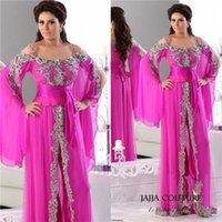Cheap 2015 Arabic Kaftan Vestidos de Fiesta Formales Long Sleeves Off the Shoulder Hot Women Long Party Dresses Abaya Dubai Evening Gowns