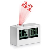 Wholesale Multifunctional Digital Projection LCD Clock Excellent Rotatable larm Clock with Large Screen Date Time Temperature Display