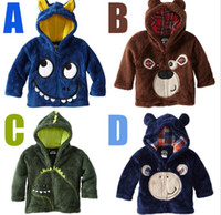Wholesale Quality Kids New winter Boys and girls Cartoon Casual jacket Hooded Zipper Sweater