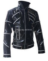 best rock classics - Fall Rare PUNK Rock Motorcycle Classic MJ MICHAEL JACKSON Costume Beat it Black Zipper Jacket For Fans Imitator Best Gift