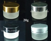Wholesale 20G Frosted Glass Cream Jar Cosmetic Container ml Cream jar Cosmetic Jar Packaging Glass Bottle