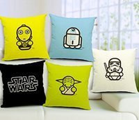 wholesale cushion covers - Star Wars Series x Inch Cotton Linen Decorative Throw Pillow Case Cushion Cover Pillowcase