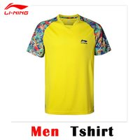 Wholesale China Table Tennis Super League Shirts Li Ning Professionals Table Tennis Shirts PingPong Sport Shirts AAYK317 AAYK266