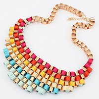 Cheap 2016 Colares Femininos High Quality Women Luxury Costume Fashion Chunky Necklaces & Pendants Chokers Gorgeous Statement Jewelry