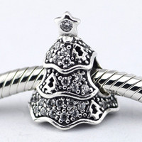 Wholesale Fit Pandora Bracelets Charms Beads Sterling Silver Jewelry Outlet Twinkling Christmas Tree SILVER CHARM DIY European