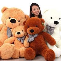 Wholesale New arrival FEET TEDDY BEAR STUFFED LIGHT BROWN GIANT JUMBO quot size cm birthday gift z