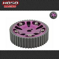 Wholesale Racing Adjustable cam gears pulley FOR Mitsubishi G93 Purple