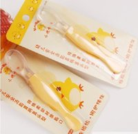 Wholesale Baby chick Cady infant safety tableware small spoon paragraph single price KD3034 baby cutlery
