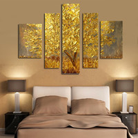 Wholesale The Trees of Gold oil painting On Canvas Handmade wall art home decoration hand painted pictures
