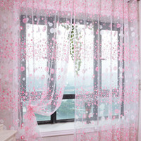 curtains - Chic Room Floral Pattern Voile Window Curtain Sheer Voile Panel Drapes Curtain