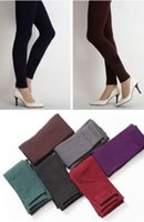 women winter tights - 2014 Women Winter Warm Thick Tights Skinny Stretch Leggings Pants