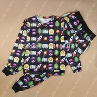 Cheap Harajuku 2014 new 3D tracksuits print cartoon emoji jogging suits sweat shirts pants 2 piece set men women sportwear jumpsuit