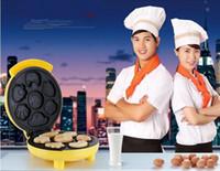 Wholesale 1Pcs New Automatic Multifunction Cartoon Mini Electric Baking Pan Pancake Cake Waffle Maker Machine Home A3