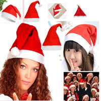 Wholesale fast shipping merry christmas hats santa hats Festive Party Supplies Party Hats gift kids adult size halloween