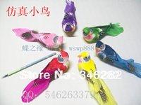 animals technology - artificial feather bird technology foam bird refrigerator stickers toy bird