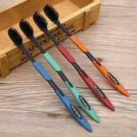 Wholesale 4Pcs Bamboo Charcoal Nano Brush Home Oral Care Double Ultra Soft Toothbrushes