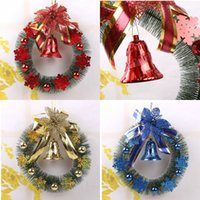pine tree - 2015 Christmas Wreaths Christmas Tree Decorations Green Pine Nuts Flower Weaths Hoop Christmas Home Ornament Festive Party Supplies