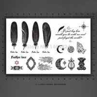 wing mirror - Hot Selling Designs Feathers Wings Mirror Temporary Tattoo Waterproof Body Tattoo Stickers Body Art