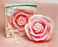 Flower beeswax aromatherapy candles - 2015 Birthday candles Romantic ideas wedding candles A rose candles sending girlfriend a gift Candle Favors