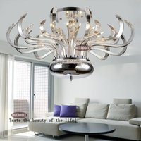 Wholesale Foral Pure Crystal Chandelier Lights Luxurious Modern Hotel Lobby Chandelier Cristal Lustre with G4 Bulbs MD10205