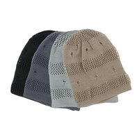 Wholesale New winter reversible beanie men hat womens hats knitted hole hats warm fashion hat