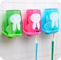 Cheap Free Shipping Fashion sucker toothbrush holder   suction hooks  household items  toothbrush rack bathroom set WC15