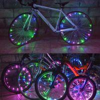 led bike spoke - 30 LED Lights Water Resistant Bike Bicycle Light Cycling Wire Tyre Light Bicicleta Wheel Spoke Light Lamp Y0116