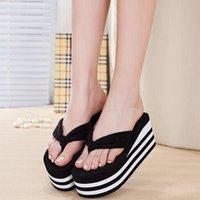 ash wedge sandals - platform high heel sandals and slippers slip thick two color flip flops women s wedges Sandals folder drag shoes ASH