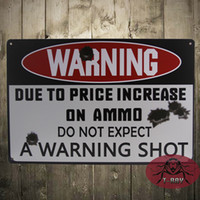 animal shooting - A warning shot Tin signs Tin Metal Coffee Bar Restaurant Shop Decorative