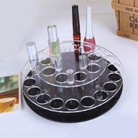 Wholesale Round Acrylic holes Lipstick Holder Nail Polish Rack Contact Lens Holder Makeup Skincare Cosmetic Organizer Storage Stand