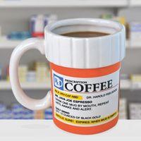 12 oz bottles - European Style Prescription Mug Pill Bottle Ceramic Handgrip Coffee Cup Pharmacy oz Rx Big Mouth Toys