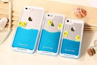 liquid silicone - 2015 Swimming size yellow duck for iPhone plus Case for Apple phone shell flowing liquid Slim Silicone Phone Case