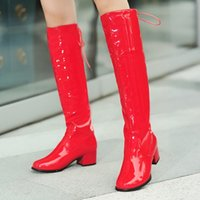 Cheap Plus size small yards boots gaotong 40 - 43 leather dance boots back strap women's martin boots red boots free shipping