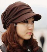 Wholesale Sun Hat Bulk - Hot 1PC Mens Women's Fashion Folds Beanie Hat Bulk Korean Unisex Cotton Hat Skull Ski Sun Caps Free