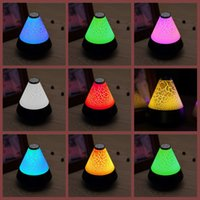 audio decor - NEW Bluetooth Wireless USB mm Audio Speakers with Colorful LED Night Light Lighting Lamp for Phone PC Computer Home Decor