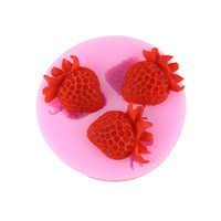 Wholesale Strawberries Soap Molds - Strawberry Silicone Mold Soap,Fondant Candle Molds,Sugar Craft Tools, Chocolate Mold Silicone Cake Mold Cake Decorating Tools M-018