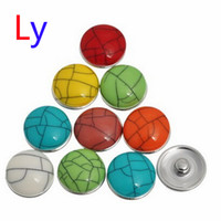 best clay bar - Mix multicolor turquoise ginger snap button for bracelet OEM ODM best gifts for my dear AC057