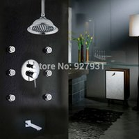 bathtubs with jets - Unique Design Single Handle Rainfall Bathtub Shower Set Faucet with Brass Massage Jets Chrome Finished