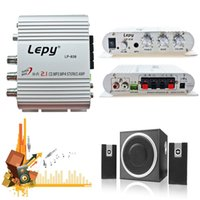 Wholesale Mini W Hi Fi Car Amplifier Booster MP3 Radio Stereo for Motorcycle Home Boat