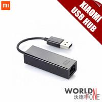 Wholesale Brand Original Xiaomi Wired LAN Network Card USB to RJ45 M hub for Xiaomi TV Box Enhanced Computer Laptop