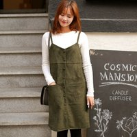 army website - 2015 new winter Dongguk door purchasing official website thick suede strap button harness dress