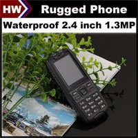 big screen cell phone - X6 Rugged Phone Waterproof Cell Phones inch Screen Dual SIM MP Camera Shockproof Dustproof Outdoor Mobile Phone Big D Sound FM MP3