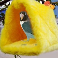 Wholesale LS4G Cute For Your Pet Parrot Bird Budgie Fluffy Warm Nest Shed Bedroom Suspended Hut Small Size