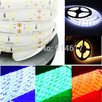 adhesive backed strips - 5m V Waterproof LED m SMD LED Strip Cold White Warm White colours with Self adhesive back